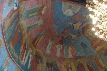 В Успенском соборе Кирилло-Белозерского монастыря закончилась реставрация росписей жертвенника