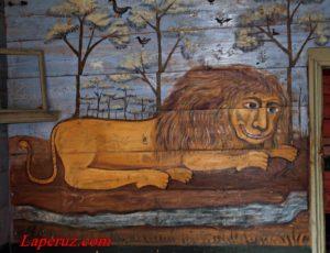 Музей народной монументальной живописи «Дом со львом» — Поповка, улица Пушкина, 5