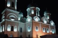 В Челябинской области у храма сделали наружное освещение