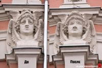 Изуродованному на фасаде московского дома Меркурию вернут исторический облик