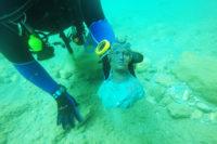 На дне Средиземного моря обнаружены античные изваяния
