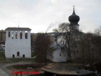Церковь Успения с парома — Псков, Рижский проспект, 3