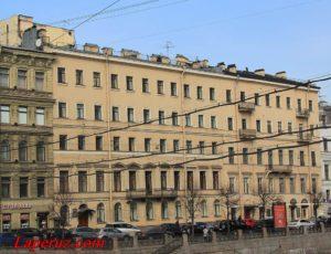 Дом Е.Ф. Муравьёвой (Дом М.В. Бегичевой) — Санкт-Петербург, набережная Фонтанки, 25