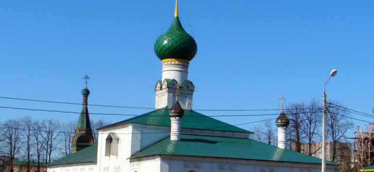 Церковь Тихвинской иконы Божией Матери — Ярославль, улица Чайковского, 1А