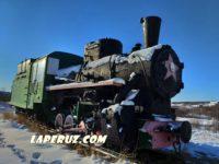 Памятник-паровоз в Охе нуждается в срочном ремонте