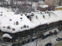 Крыша саратовского памятника архитектуры рухнула под тяжестью снега