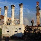 В Касимове сгорел памятник архитектуры федерального значения